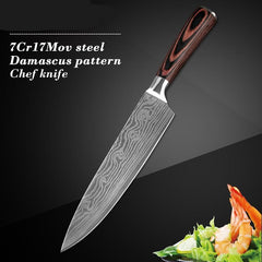 Santoku Damascus Style Sharp Set Chef Kitchen Knife