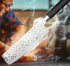 7Inch Santoku Cleaver Utility Stainless Steel Chef Kitchen Knife