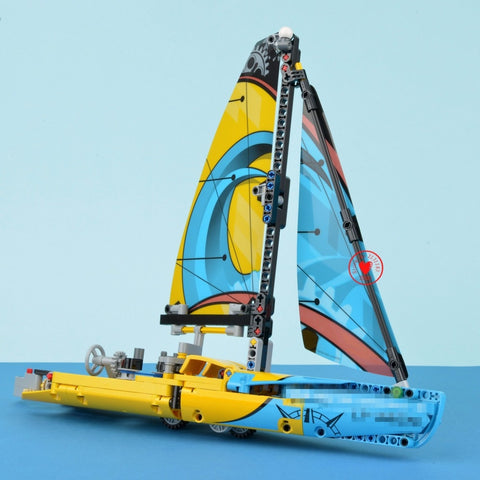 Racing Yacht Boat Model Building Blocks