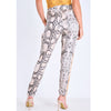 Image of Snake Skin Stripe Pants Trousers
