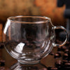 Image of 220ML Handle Double Glass Teacup Coffee Mugs