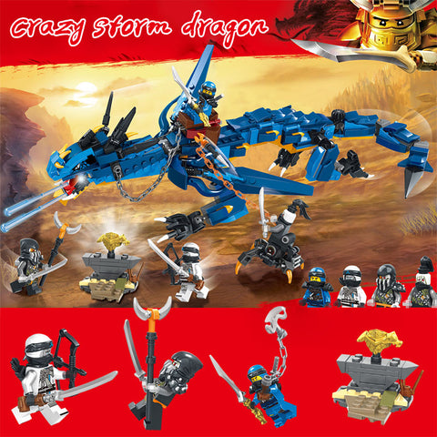 Flying Ninja Dragon Model Building Blocks