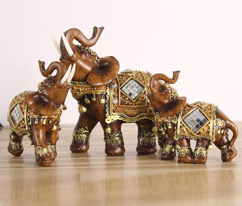 Resin Statue Figurines Elephant Decor