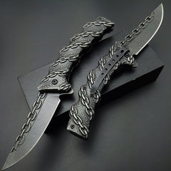 Chain Hunting Camping Folding Pocket Knife