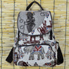 Image of Embroidery Elephant Canvas Backpack