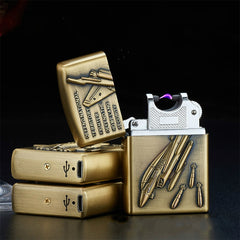Cool Windproof Electric USB Lighter