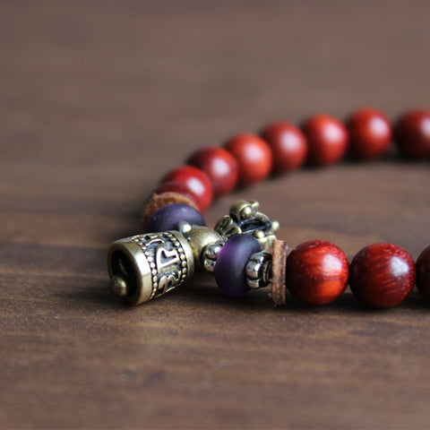 Tibetan Wood Yoga Stretch Chakra Bracelet
