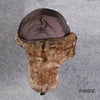 Image of Earflap Wool Blend Fur Russian Bomber Hat
