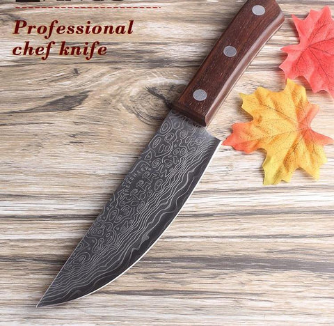 6Inch Damascus surface Santoku Cleaver Utility Chef Kitchen Knife