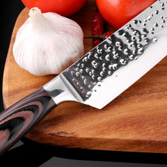 8Inch Stainless Steel Sharp Santoku Cleaver Slicing Set Chef Kitchen Knife