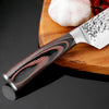 Image of 8Inch Stainless Steel Sharp Santoku Cleaver Slicing Set Chef Kitchen Knife