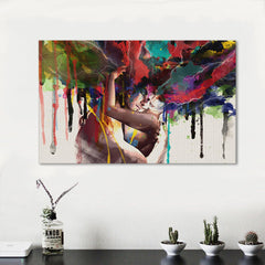 Abstract Lovers Painting Decor Canvas Wall Art