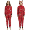 Image of Deer Hood PJS Matching Family Christmas Pajamas