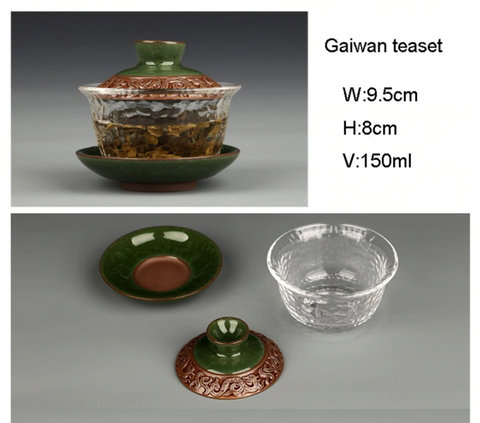 Chinese Tradition Gaiwan Saucer Set Tea Cup
