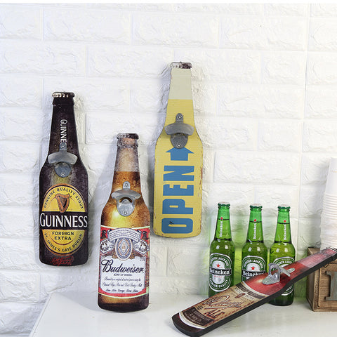 Vintage Beer Shaped Wall Mounted Bottle Opener