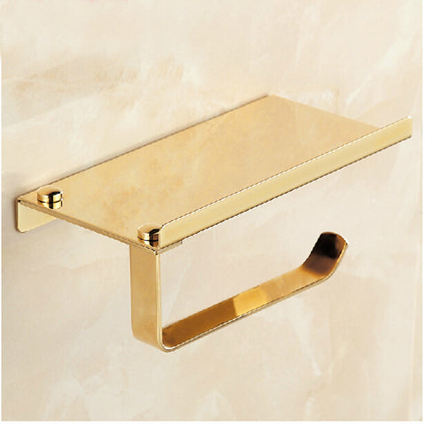 Golden Mirror Toilet Paper Holder