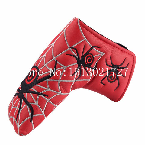 Spider Red Black Putter Golf Head Covers
