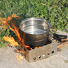 Image of Compact Folding Lightweight Portable Backpacking Stove