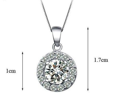 Zirconia Round CZ Grandma Jewelry Necklace