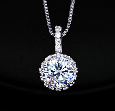 Cubic Zirconia CZ Grandma Jewelry Necklace