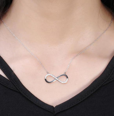 Infinity CZ Grandma Jewelry Necklace