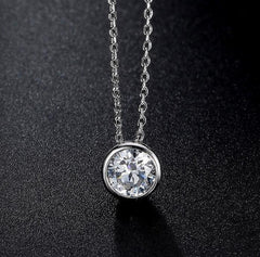 Zirconia Round CZ Sister Jewelry Necklaces