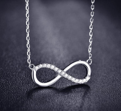 Infinity Number 8 CZ Sister Jewelry Necklaces