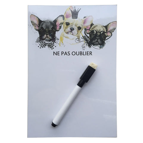 Watercolor Dog Erase Message Board Fridge Refrigerator Magnets