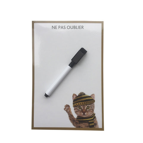 Cute Hat Cat Erase Message Board Fridge Refrigerator Magnets