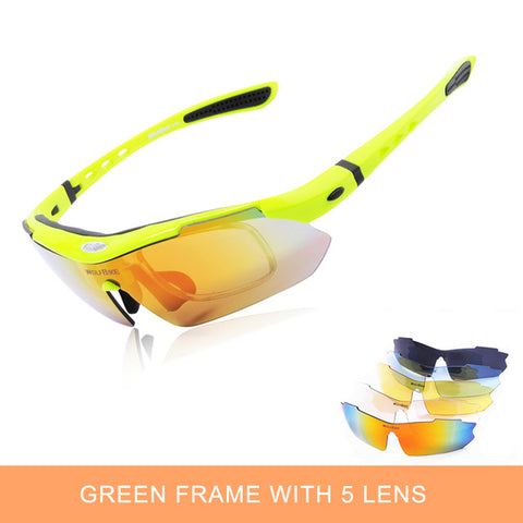 5 Lens UV Polarized Cycling Glasses