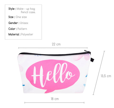 3D Fashion Small Makeup Bag Cosmetic Pouch