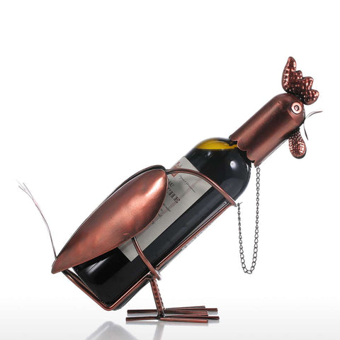 Modern Rooster Wine Bottle Holder