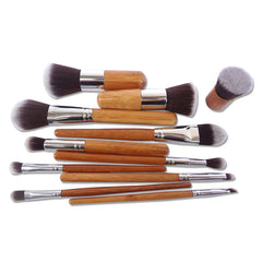 11Pcs Professional Bamboo Makeup Brushes Sets
