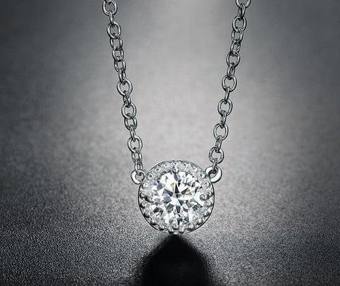 Circle CZ Sister Jewelry Necklaces