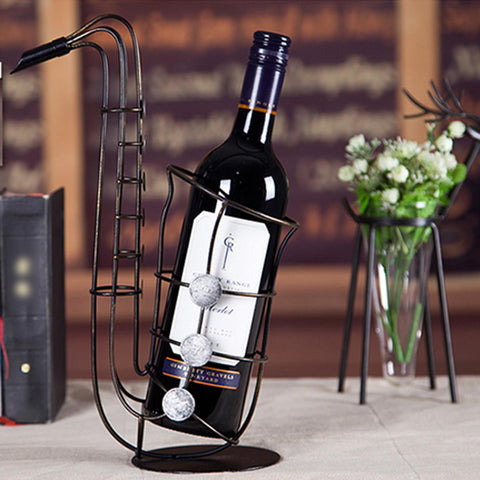 Craft Saxsophone Wine Bottle Holder