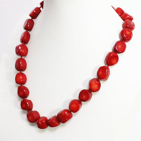 Boho Red Jewelry Coral Necklace