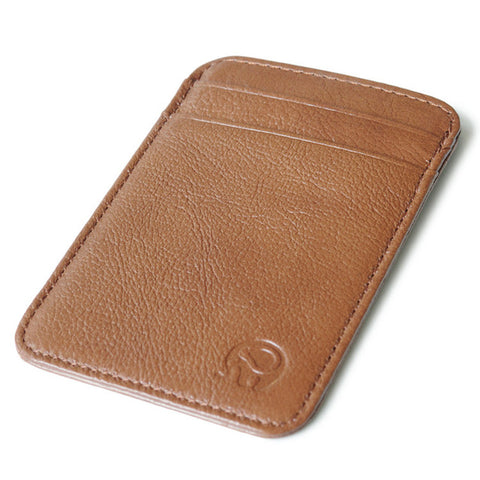 Retro Genuine Leather Card Holder Slim Minimalist Wallet