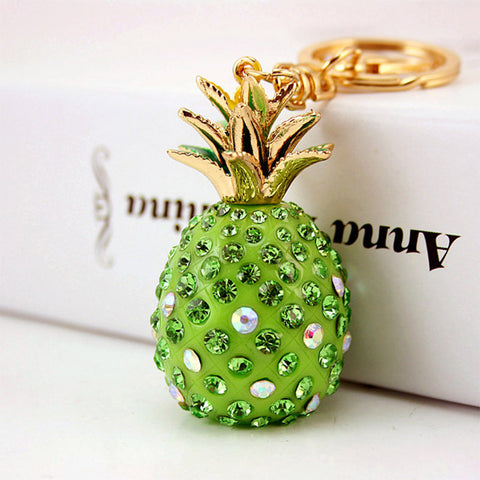 Crystal Pineapple Keychain