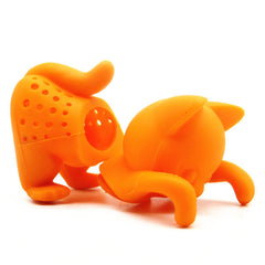 Cute Cartoon Cat Loose Tea Steeper Infuser