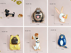 6Pcs Cute Puppy Cartoon Enamel Pins