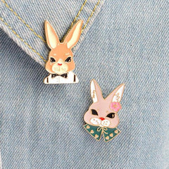 Cute Bunny Rabbit Set Enamel Pins