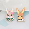 Image of Cute Bunny Rabbit Set Enamel Pins
