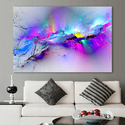 Colorful Abstract Living Room Decor Canvas Wall Art