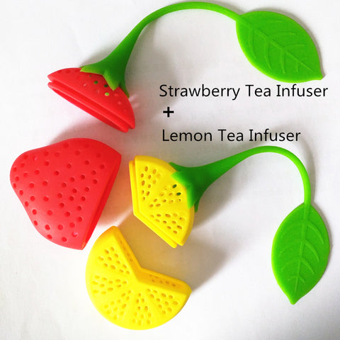 2Pcs Strawberry Lemon Loose Tea Steeper Infuser