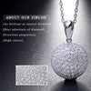 Image of Round 925 Silver CZ Grandma Jewelry Necklace