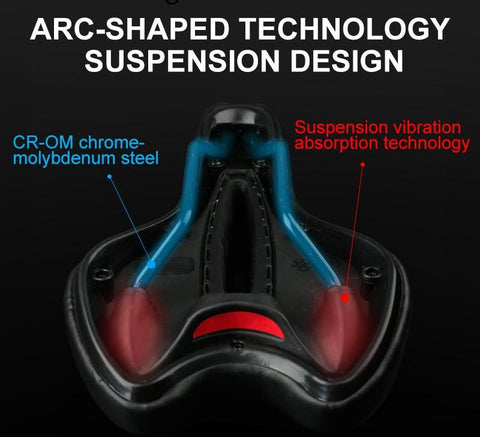 Wide Gel Bicycle Bike Seat
