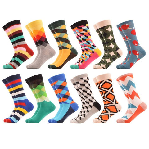 12 Pairs Happy Funky Cool Funny Socks