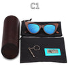 Image of Vintage Cat Eye Wooden Bamboo Sunglasses