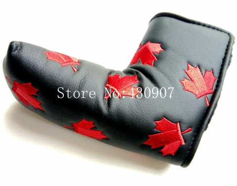 Lucky Red Maple Putter Golf Head Covers