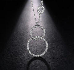 Double Circle Infinity Number 8 Sister Jewelry Necklaces